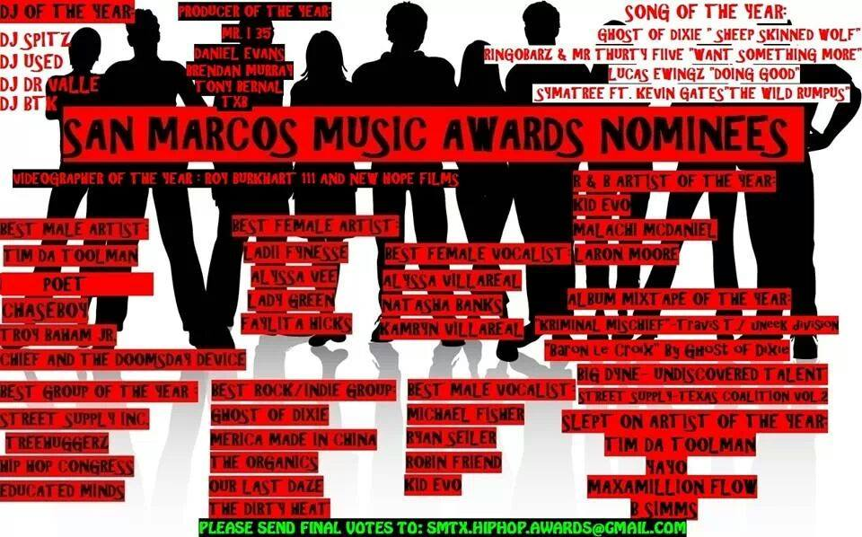 san marcos music awards