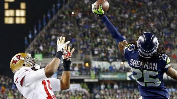 Richard Sherman Apologizes For NFC Title Game Rant ... |Richard Sherman Crabtree Meme